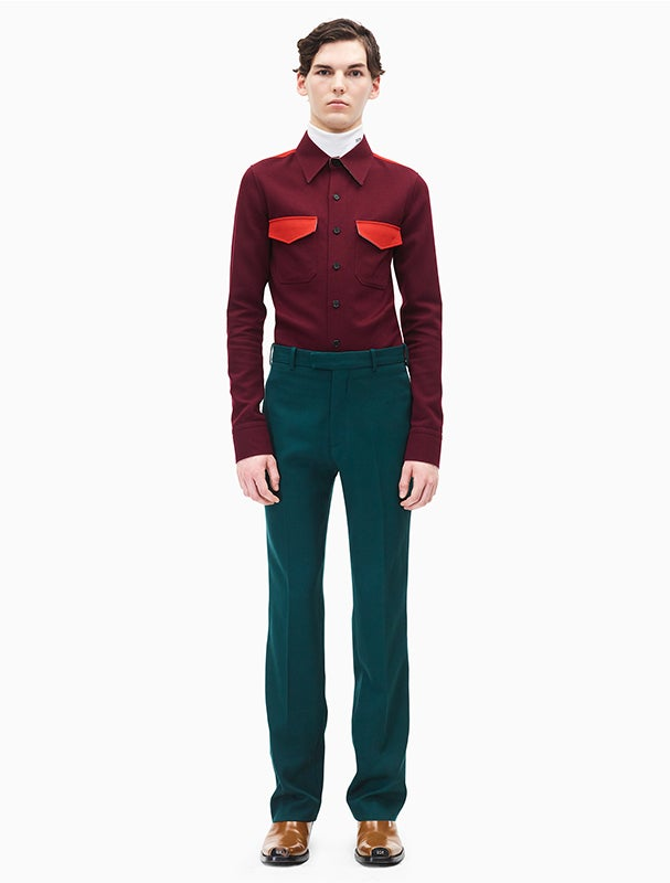 Calvin Klein 205W39NYC Shortened Fit Marching Band Uniform Designed By Raf Simons