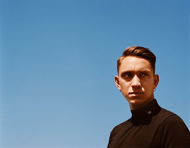 The xx's Oliver Sim in Calvin Klein