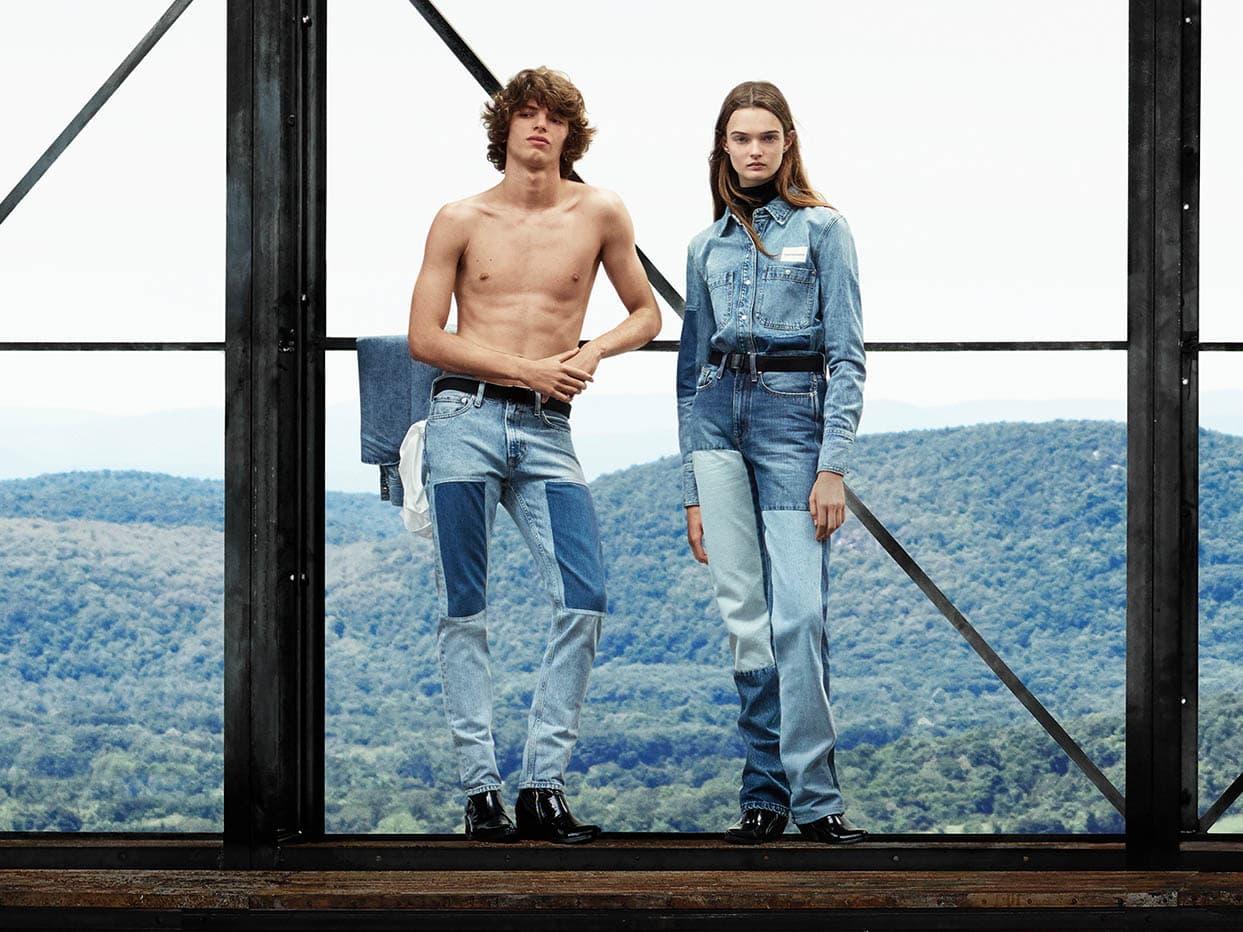 Fernando and Lulu wear Patchwork CALVIN KLEIN JEANS and Pointy Western  Boots. a591d53352
