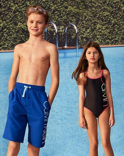 02c7823588 Shop CALVIN KLEIN Girls and Boys Kids Girls Swim Boys Swim