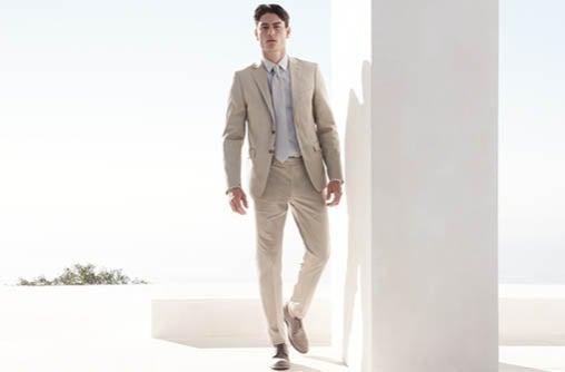 x fit ultra slim fit khaki suit | Calvin Klein
