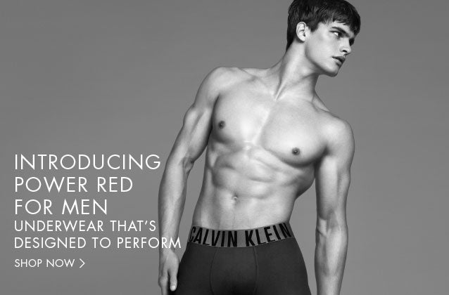 Power Red for men. Underwear That's designed to perform.