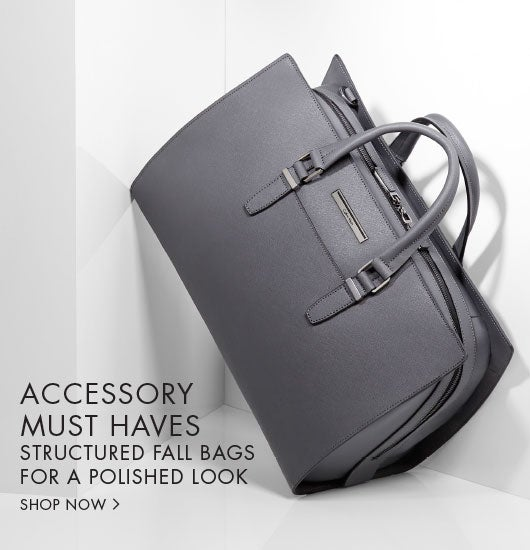 Accessory must haves. Structured fall bags for a polished look.