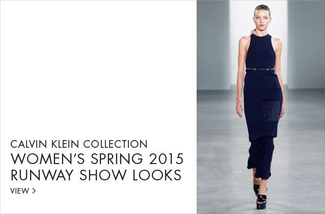 Calvin Klein Collection Women's Spring 2015 Runway Show