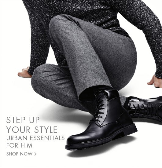 Setp up your style. Urban essentials for him.