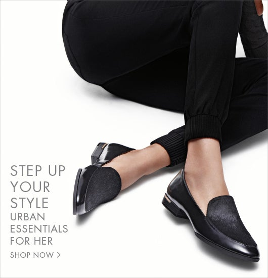 Step up your style. Urban essentials for her.
