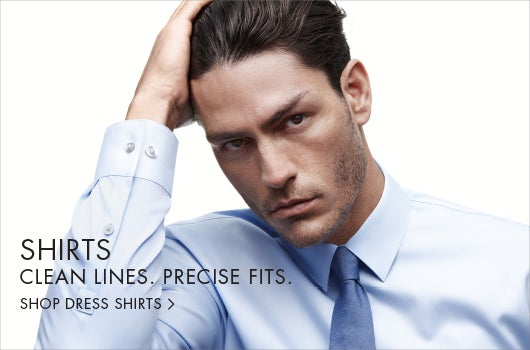 Shirts. Clean lines. Precise fits.