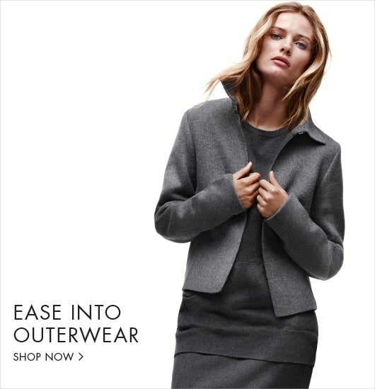Ease into outerwear