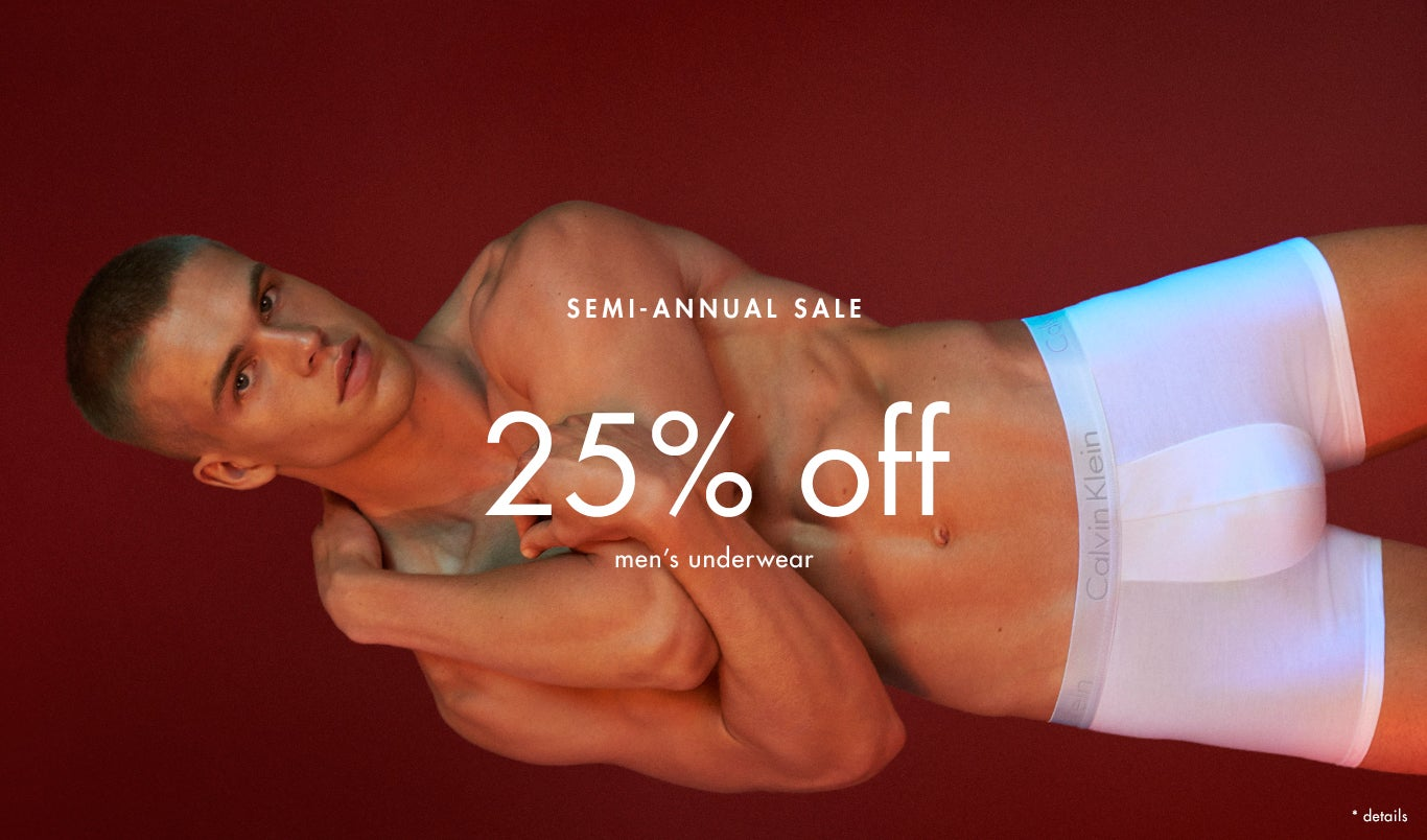 25% off men's underwear semi-annual sale