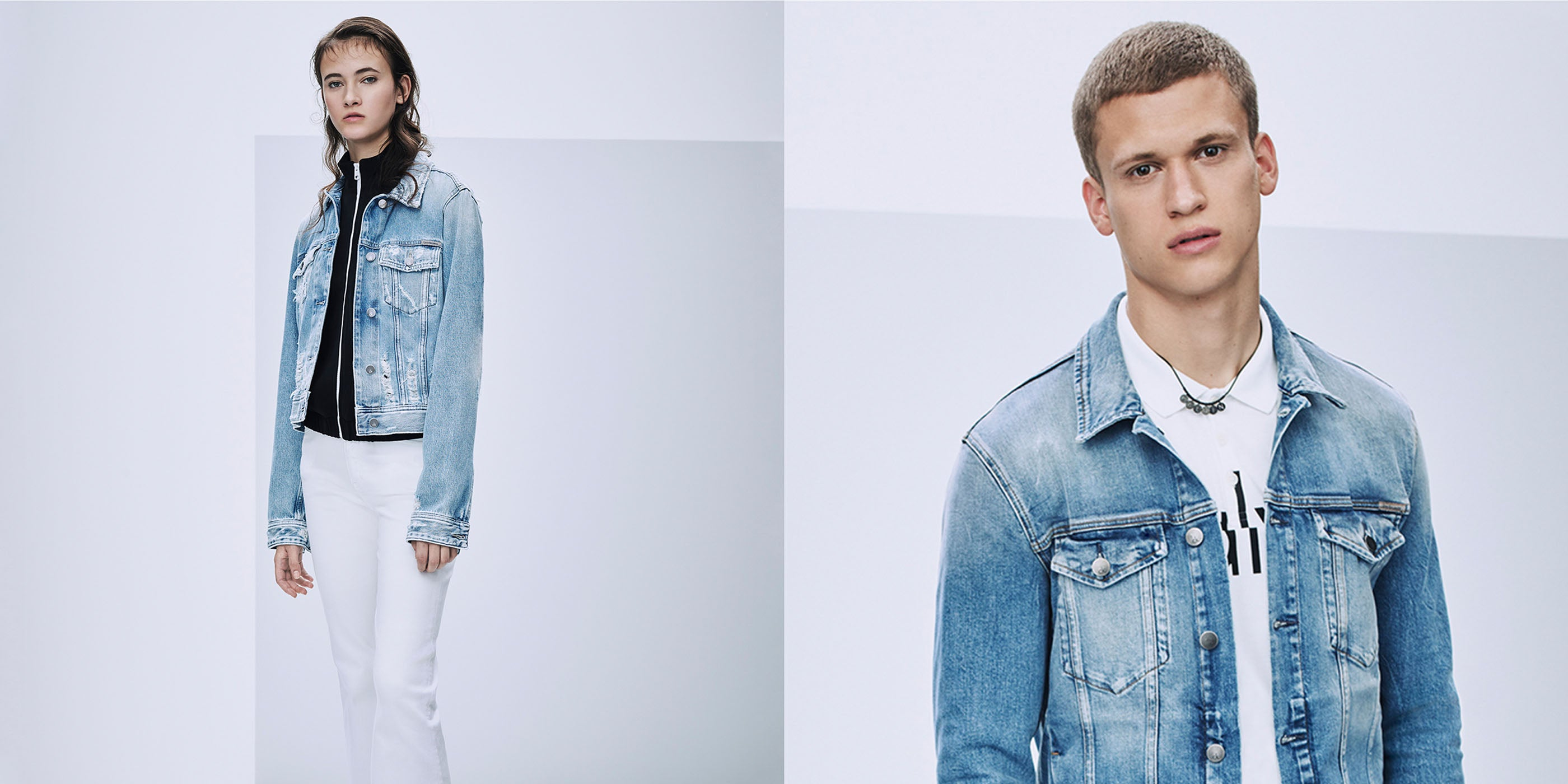 Calvin Klein Jeans female and male model
