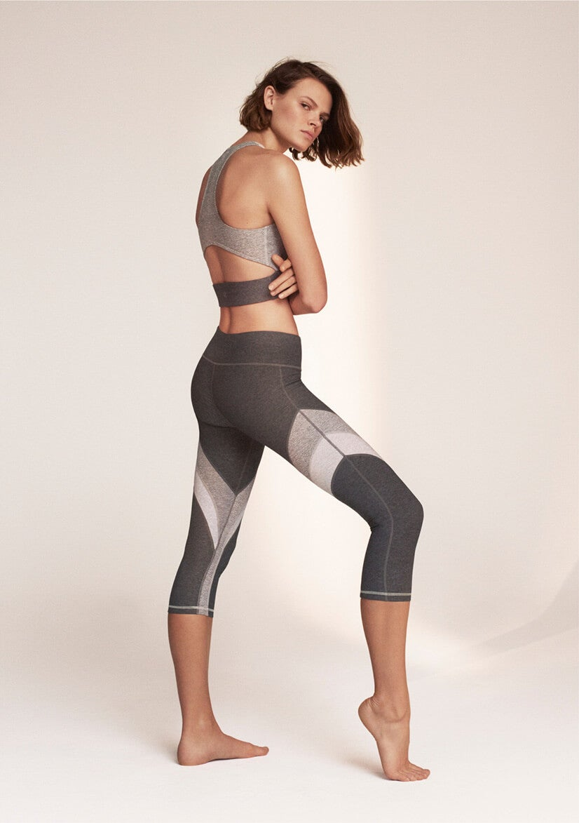 female model in calvin klein activewear