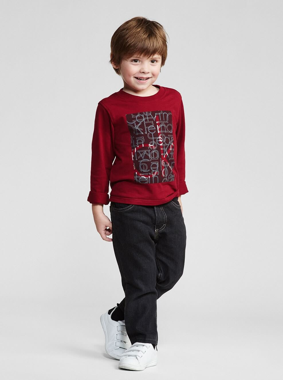 Kids calvin klein for Dark denim toddler shirt