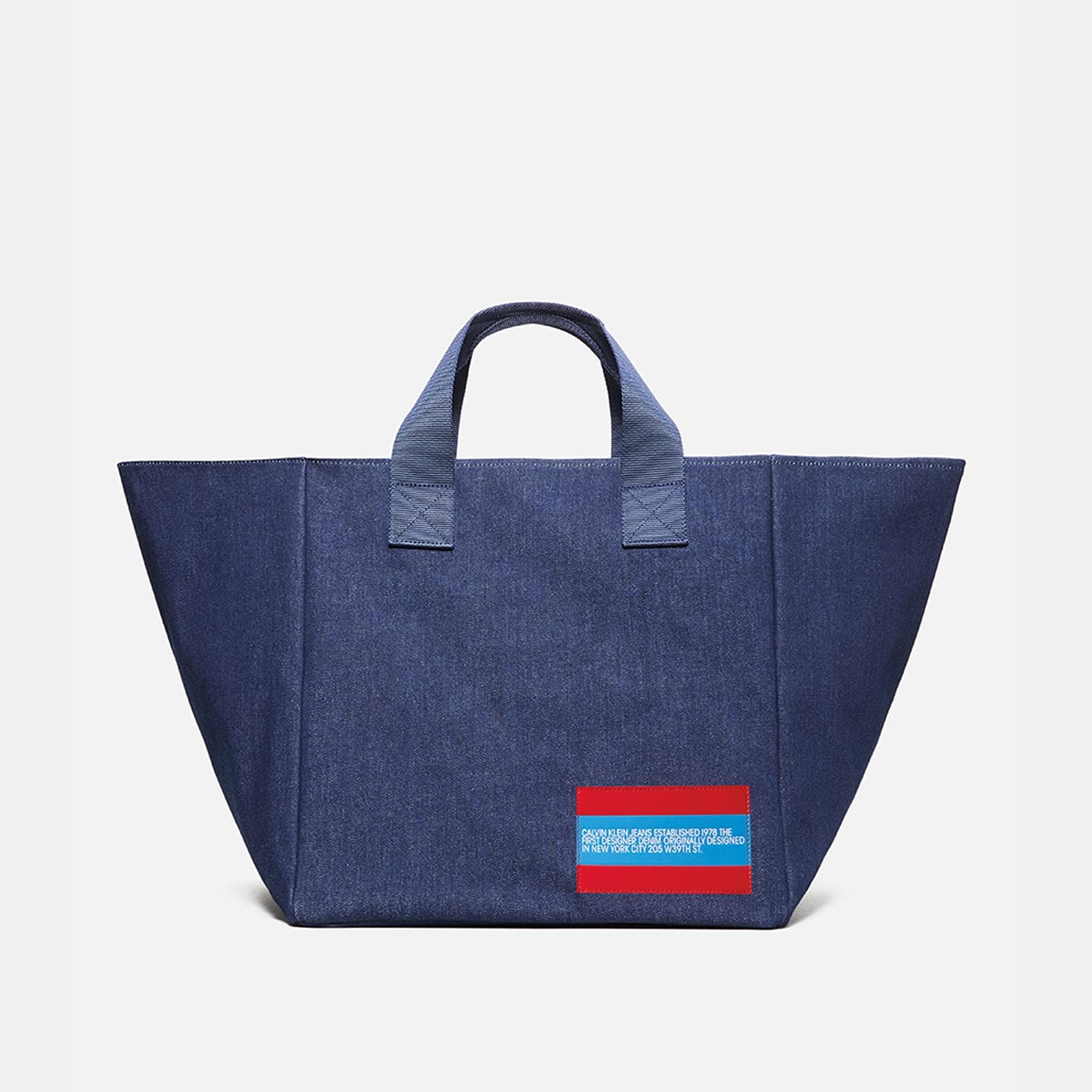 est. 1978 denim bucket tote