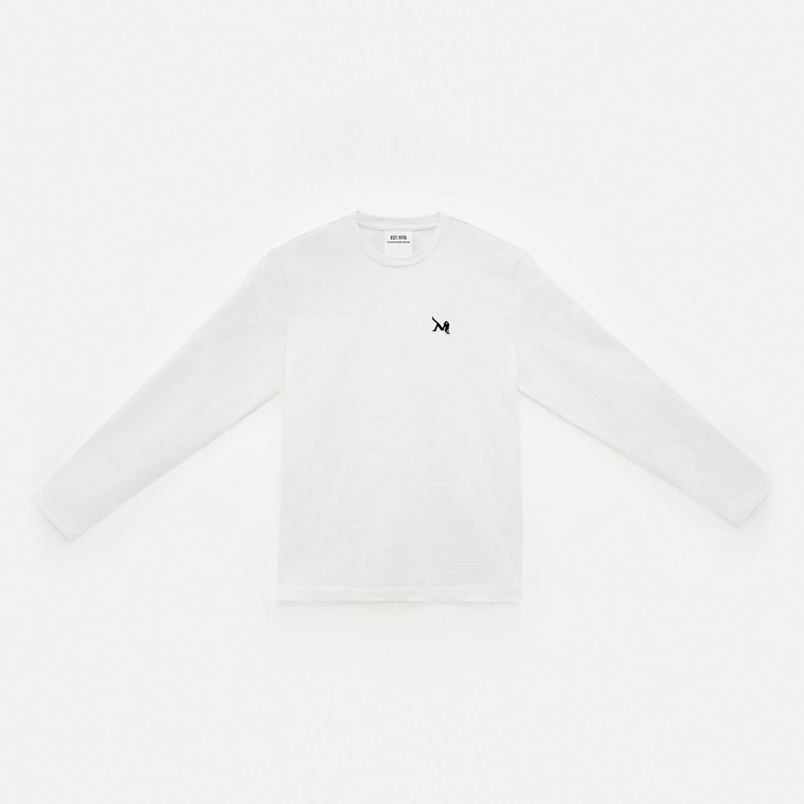 ICON EMBROIDERED CREWNECK LONG SLEEVE SHIRT