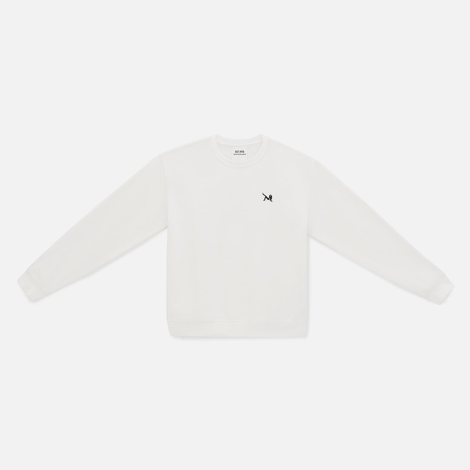 icon embroidered crewneck sweatshirt