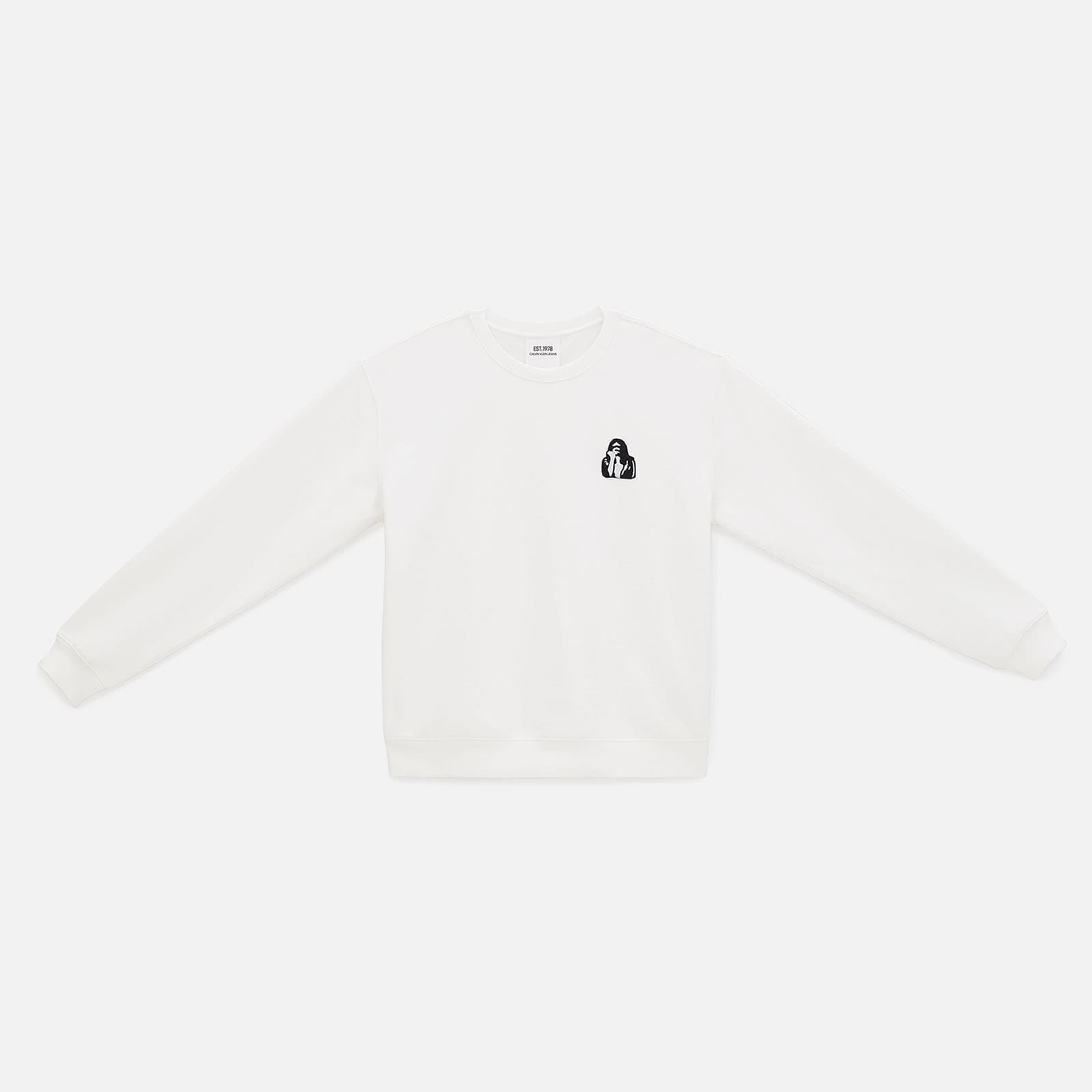 EMBROIDERED CREWNECK SWEATSHIRT