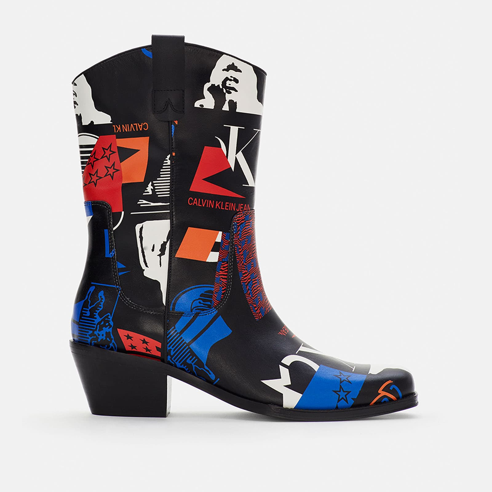 GRAPHIC LEATHER BOOT