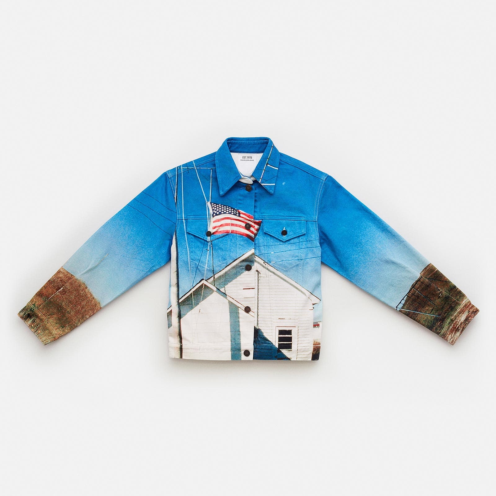 LANDSCAPE DENIM TRUCKER JACKET