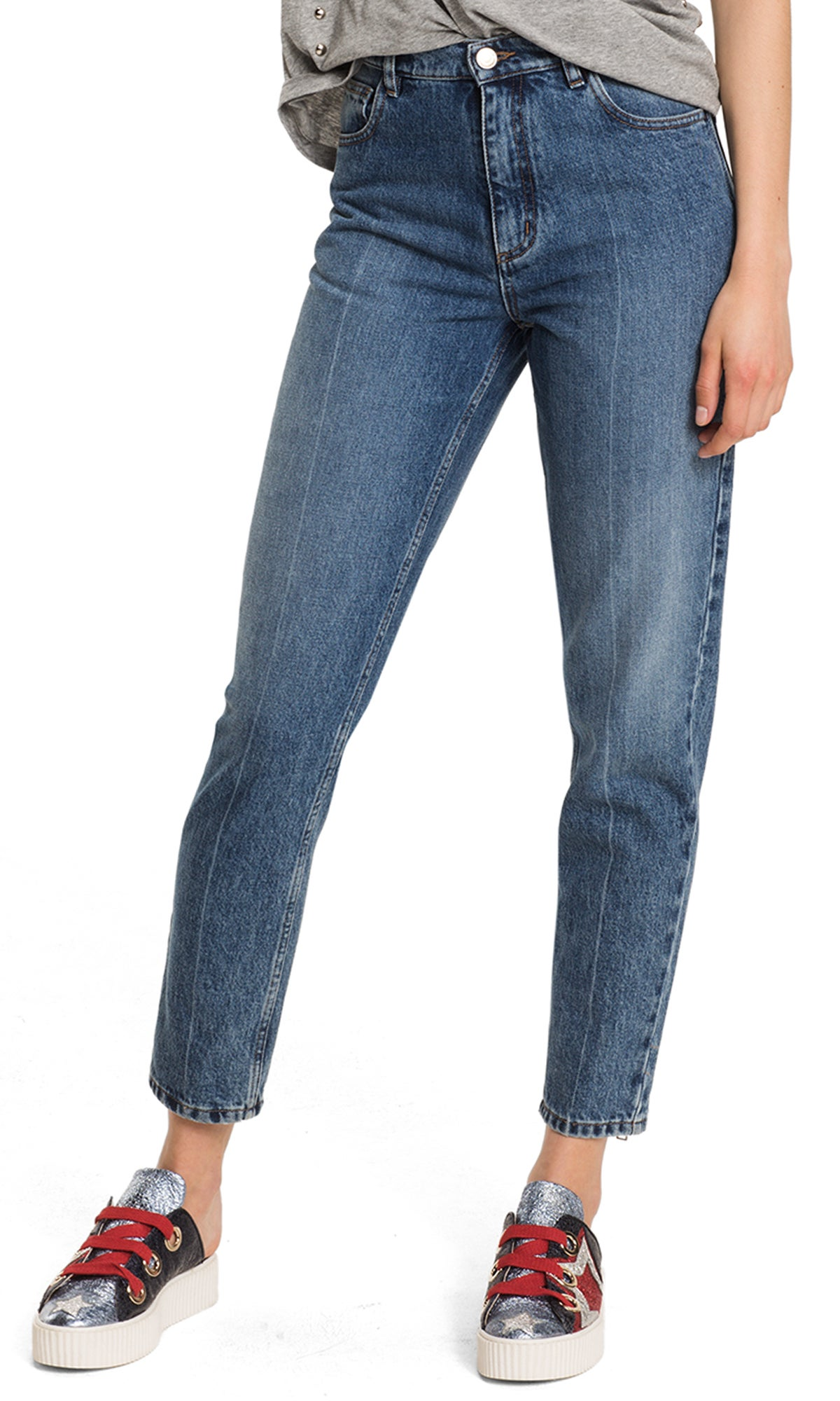 Women's cropped fit jeans